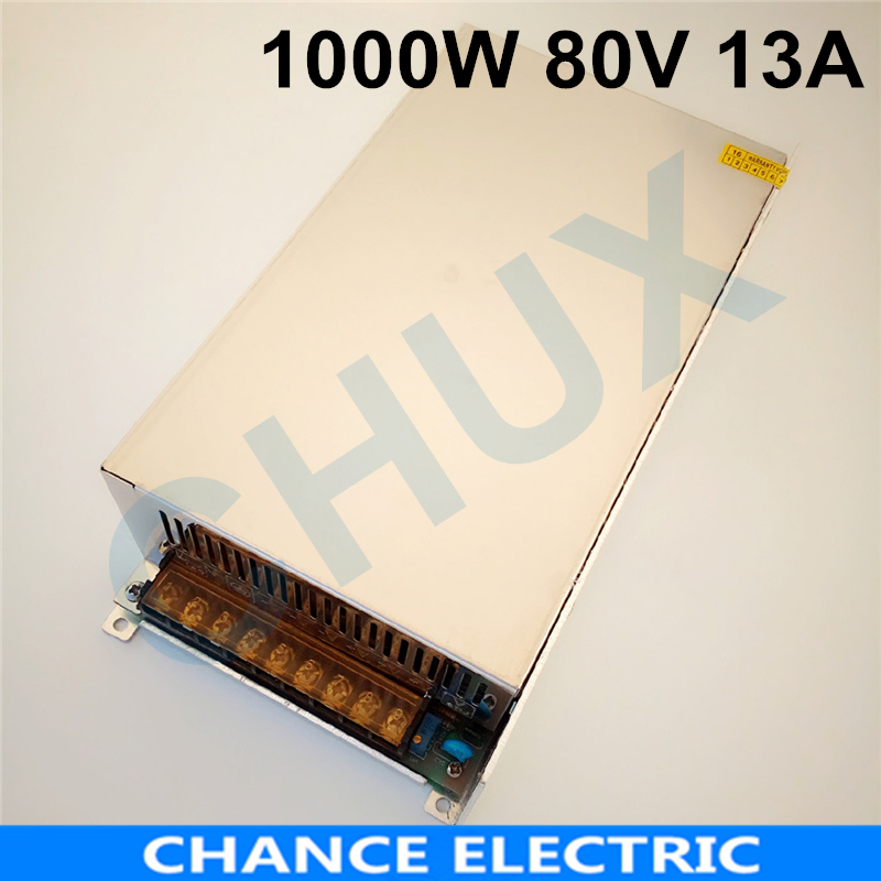 1000W 13A 80V switching power supply 80v adjustable voltage ac to dc power supply for Industrial field Free shipping