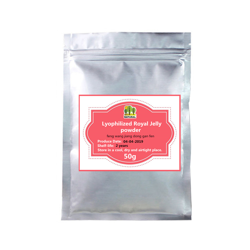 50-1000g,Bulk Lyophilized Royal Jelly Powder 10-HDA 6.0%,Bee Milk,contains Almost All The Nutrition Elements For Human Body