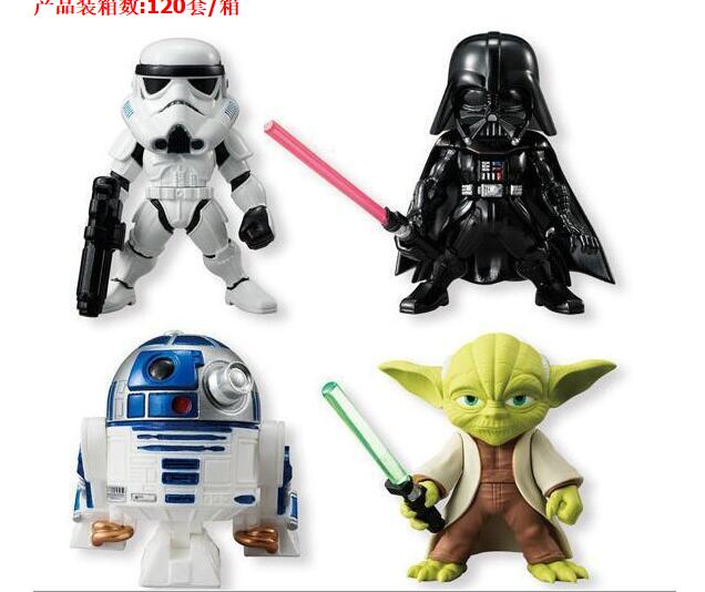 4 teile/satz Star Wars Darth Vader Yoda R2-D2 Roboter Stormtroopers Sammler Action-figuren...