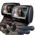 7 Pulgadas 2 pcHD DVD Del Coche Reposacabezas Monitor con SD/USB/Juegos + Mandos + 2 IR Headphones para audi a3 a4 toyota lifan x60 bmw e53