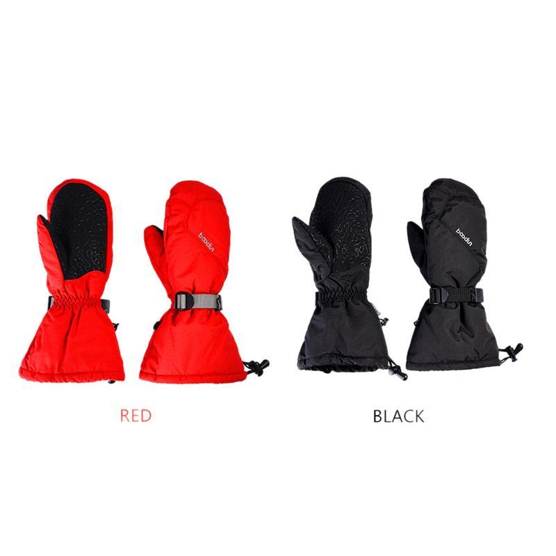 -30 Degree Waterproof Ski Gloves Windproof Snowmobile Snowboard Gloves Sport Handwear Fleece Thermal Skiing Gloves Red Black Factories And Mines