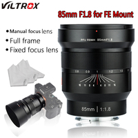 VILTROX 85mm f1.8 Full Frame Manual Fixed focus Camera lens anti shake system Fixed Focus Lens for Camera Sony NEX E A9 A7M3 A7R