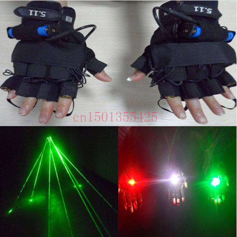 Green laser 532nm refers to the 4 laser gloves stage performances props to DJ Laser Dance Club Night props