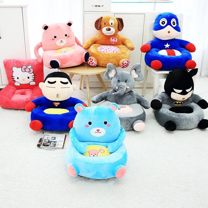 Baby Kids Kinderen Zetels Sofa Bean Bag Baby Kids Pluche Speelgoed Terug Ondersteuning Animal Kussen Voeden Stoel Kinderen Seat Sofa Gift