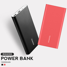 Original Romoss RT10 10000mAh Aluminum Body Mobile Power Bank Ultra-thin Smart Charger for iPhone X Samsung Xiaomi Powerbank