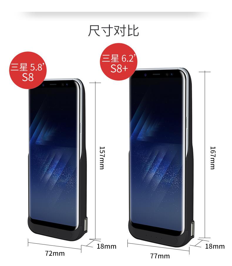 Original JLW Power Bank 5500mah Case For samsung galaxy S8 Battery Case  External Backup battery Charger case For samsung galaxy s8