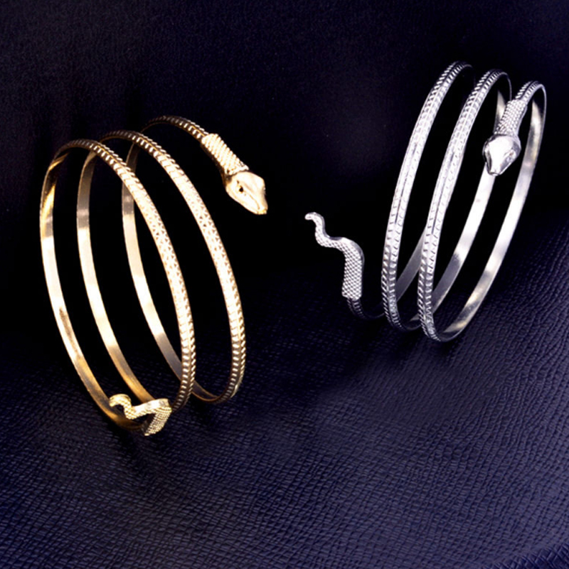 1PC Hot Popular Women Bracelet Snake Spiral Upper Arm Cuff Armlet Armband Bangle Jewelry Gift