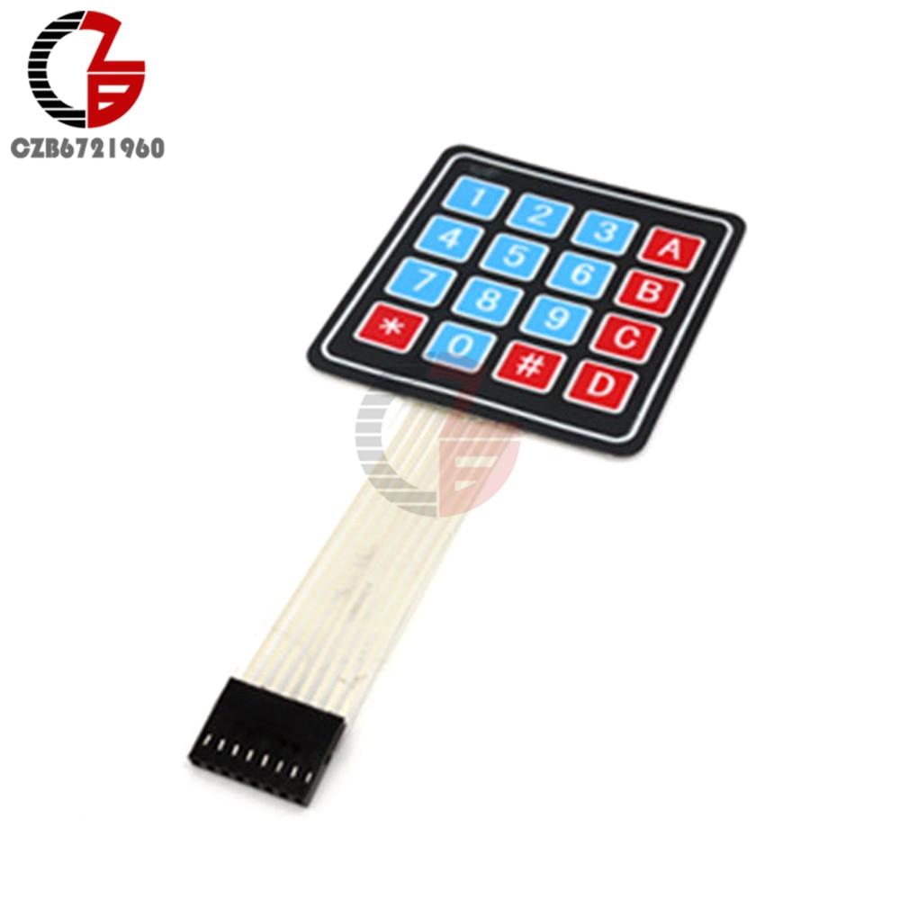 2Pcs DC 35V 4 x 4 Matrix Array 16 Key Membrane Switch Keypad Keyboard for Arduino AVR PIC