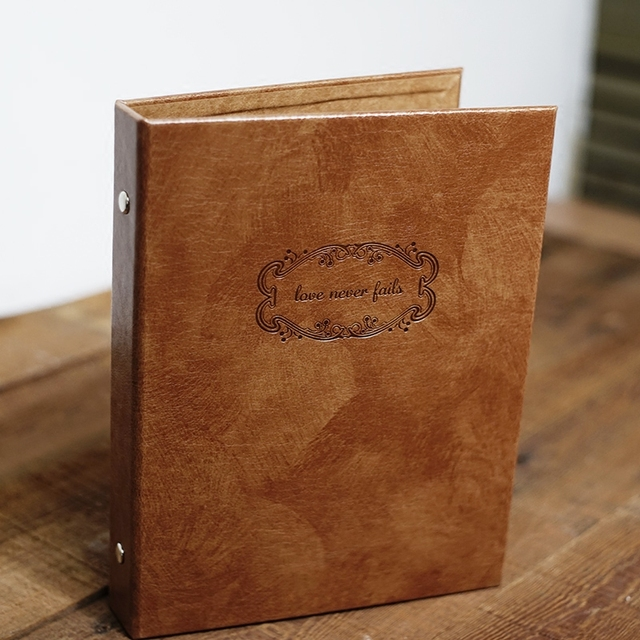 DIY Scrapbook Wedding Photo Album Retro Personalized Leather Family Memory Record Scrapbooking Sticky
