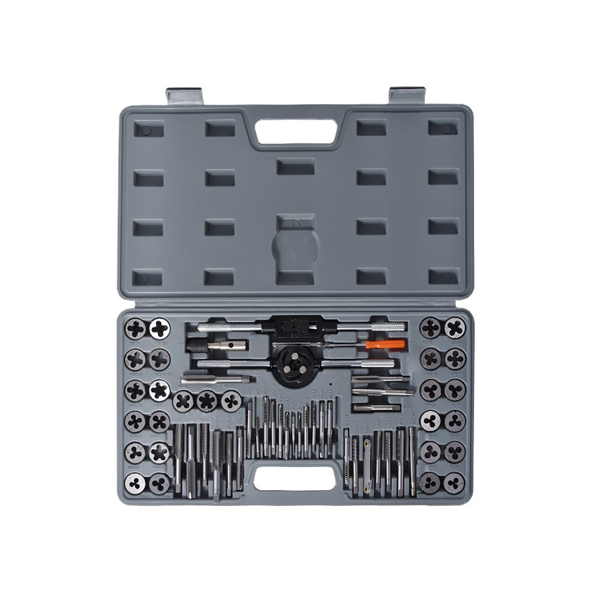 60 pcs / set tap and die sets m3 ~ M12 metric screw plugs taps & amp; tap & amp; die wrench, taps to hand screw by hand threadin цена