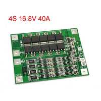 4S 40A Li-ion Lithium Battery 18650 Charger PCB BMS Protection Board with Balance For Drill Motor 14.8V 16.8V (Balanced Version)
