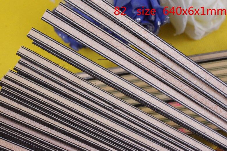 Vázání MARQUETRY INLAY Kytarové příslušenství 30 pásek LUTHIER PURFLING Horní strana 640x6x1mm # 82 černý javorový javor