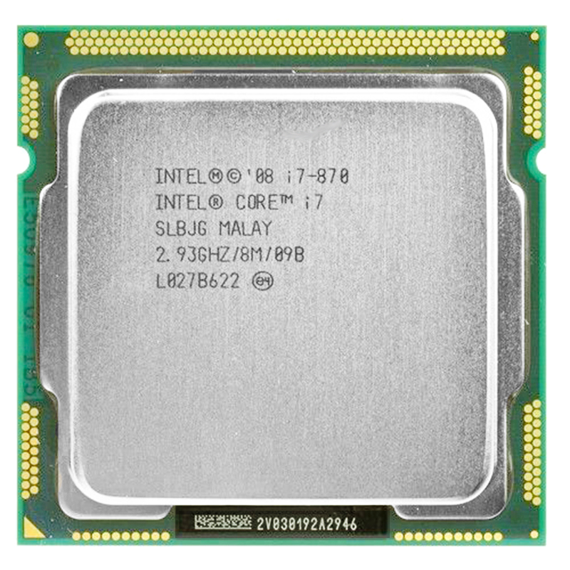 Intel core 2 i7-870 אינטל i7 870 i7 מעבד Quad Core 2.93GHz 95W LGA 1156 8M מטמון שולחן העבודה מעבד אחריות 1 שנה