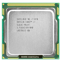 intel core 2 i7 870 intel i7 870 i7 processor Quad Core 2.93GHz 95W LGA 1156 8M Cache Desktop CPU warranty 1 year