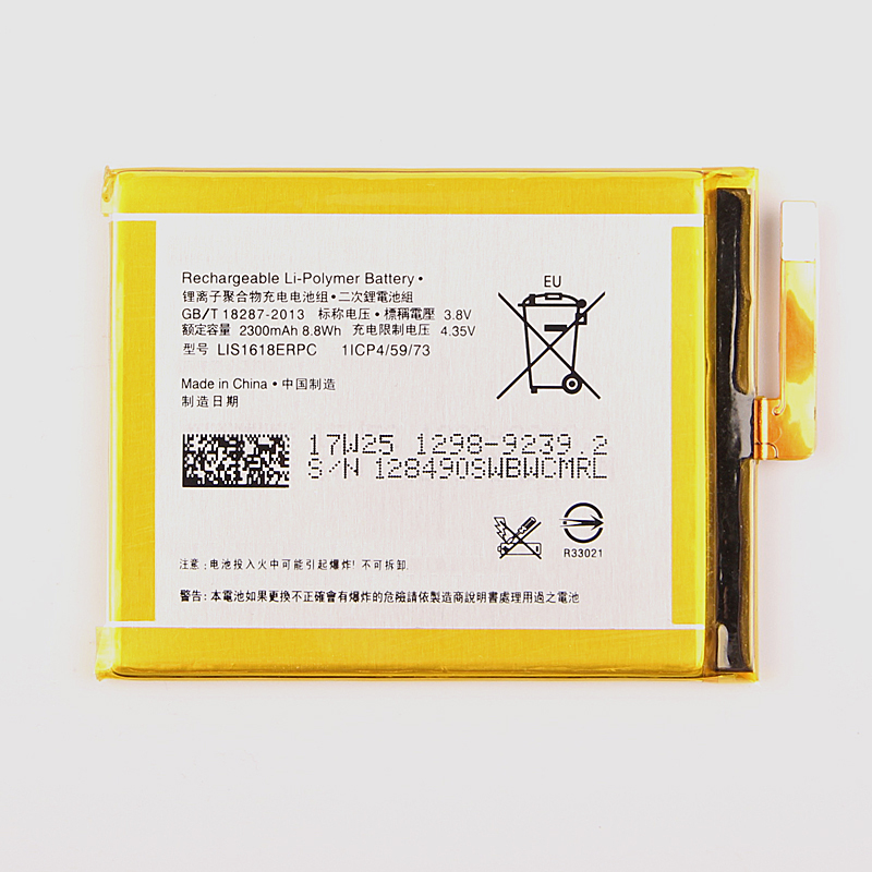 Original Replacement Battery LIS1618ERPC For SONY Xperia XA F3111 E5 F3313 F3112 F3116 F3115 F3311 Phone Battery 2300mAh new lcd screen and digitizer assembly replacement for sony xperia xa f3111 f3113 f3115 gold