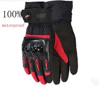 Free Shipping Pro Biker Motorcycle Gloves Waterproof Winter Cold Proof Skiing Thermal Ride Gloves Windproof Motorcycle