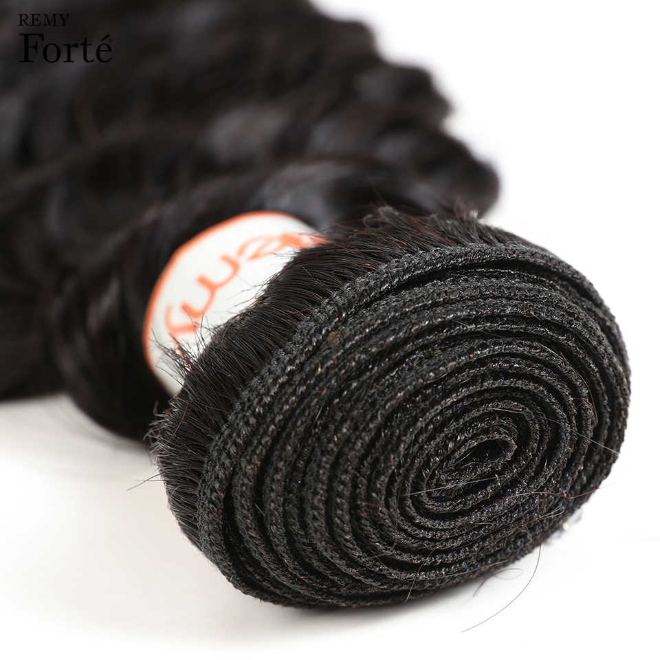 Extensiones de pelo ondulado brasileño profundo Remy Forte, vendedores de extensiones de cabello humano de 30 pulgadas, Paquetes individuales de cabello humano 100%