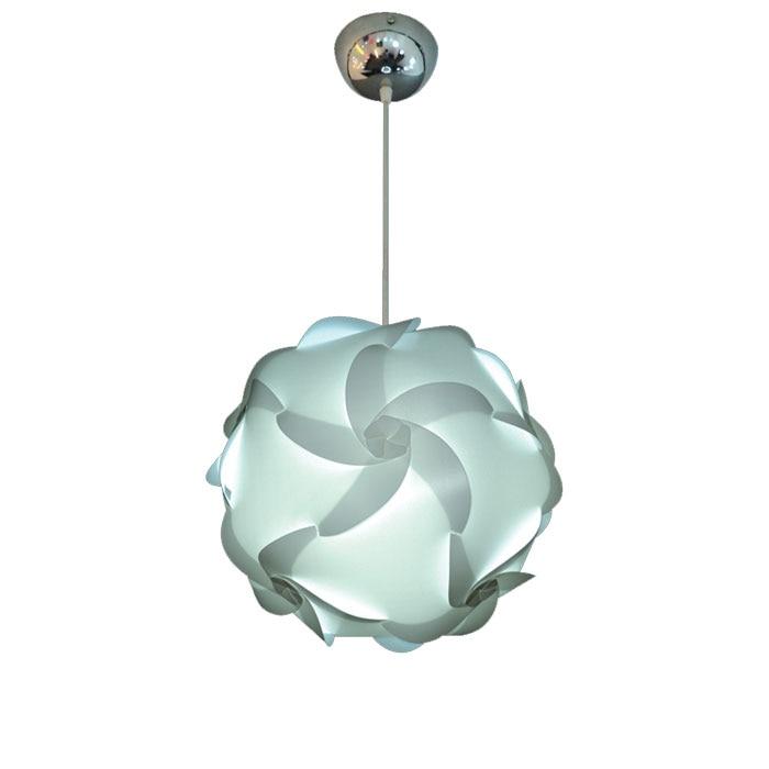 Moderne blanc bricolage IQ Ball nouveauté Puzzles pendentif lumière avec cordon d'alimentation E27 PVC lampe suspendue LED luminaire