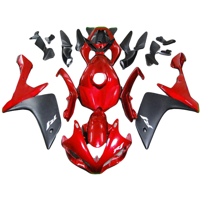 red matte black <font><b>fairing</b></font> kit for <font><b>YAMAHA</b></font> YZF <font><b>R1</b></font> <font><b>fairings</b></font> 2007 <font><b>2008</b></font> YZF <font><b>R1</b></font> 07 08 <font><b>fairings</b></font> injection molding hulls kit TP06 image