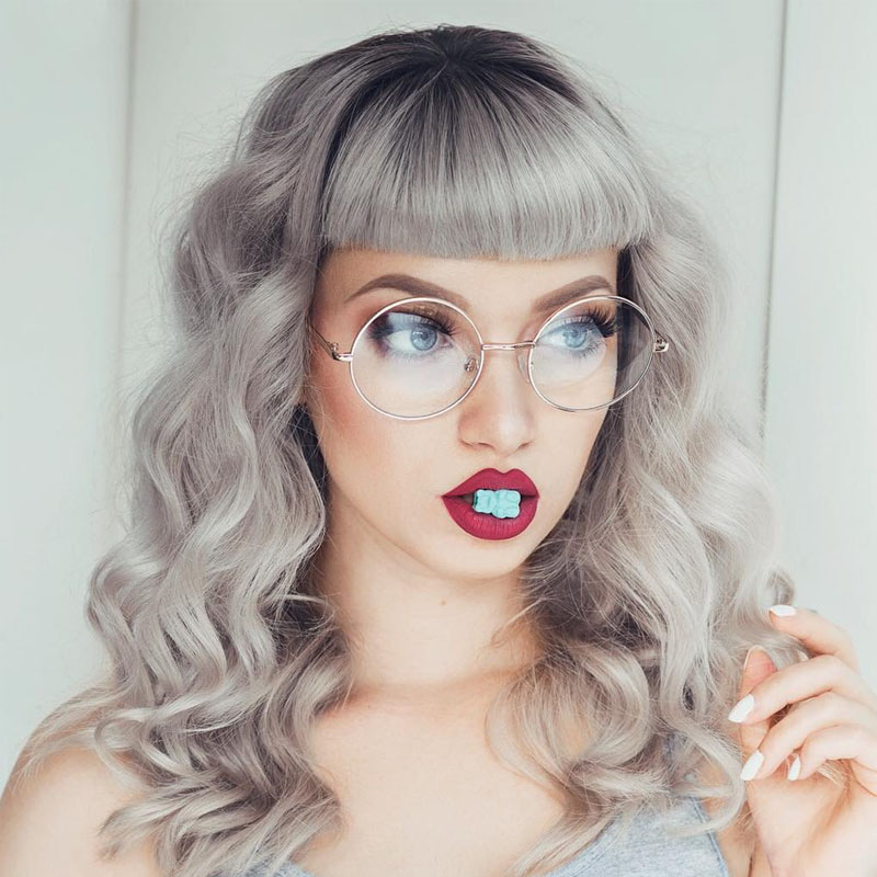 02ff7ffbd2 Details about OVERSIZED CLEAR LENS FASHION GLASSES METAL SILVER FRAME ROUND  LARGE CIRCLE NERDY