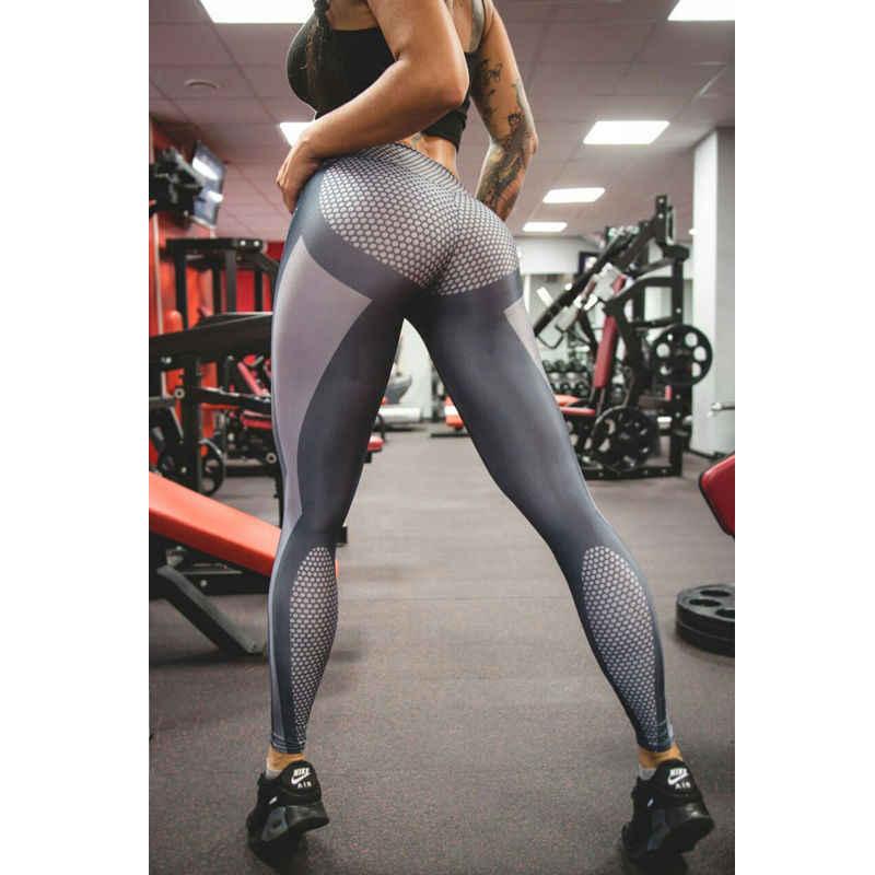 ITFABS Women Honeycomb Printed Yoga Pants Push Up Fitness Leggings For Yoga  Running Gym Sport Leggings 0ec50c15b5a