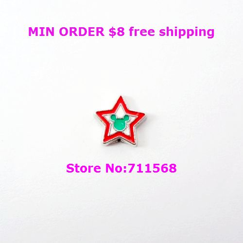 Mickey Star Floating Charm Mickey Locket Charm For Living Glass Magnetic Locket Accessories