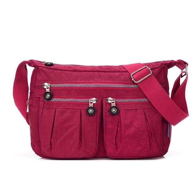 ... Women Messenger Bags Ladies Nylon Handbag Light Travel Bags Girl 296d9a5c11b79