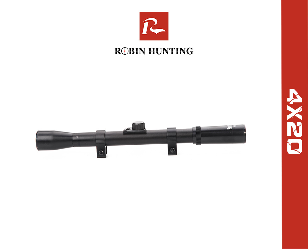 Air Rifle Airgun Gun Scope 4x20 TELESCOPIC SIGHT Fitted 9-11mm Mounts YHDLUK