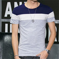 T-shirt dos homens Casual Fino Manga Curta O Neck T Shirt Tees Tops