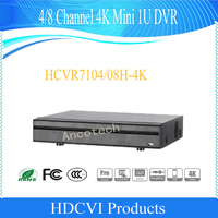 DAHUA CCTV DVR 4 8 Channel 4K Mini 1U Digital Video Recorder Without Logo HCVR7104H 4K