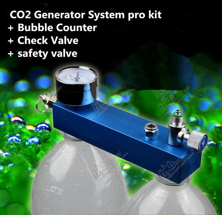 Neue DIY Aquarium Gepflanzt Tank CO2 Generator System pro kit + Blasenzähler + Rückschlagventil + sicherheitsventil Pet liefert