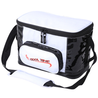 16L Shiny Leather Cooler Bag Thermo Lunch Picnic Box Insulated Cool Handbags Ice Pack Fresh Thermal Shoulder Bags NB28