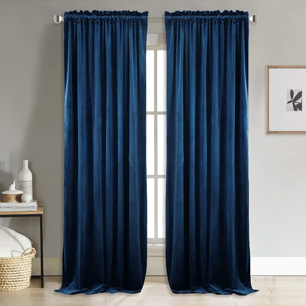 Modern Solid Velvet Blackout Curtains For Living Room Bedroom Soft Comfortable Blinds Windows Curtain Custom Size Plain Door