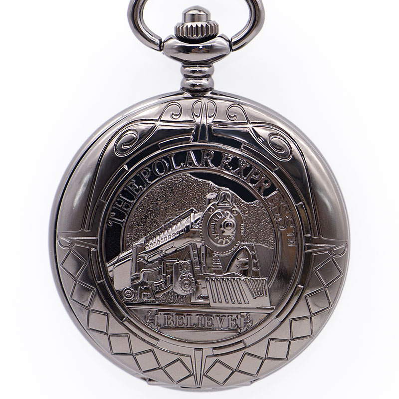 Drop Shipping Retro Steampunk Hollow Mechaincal Pocket Watch Small Train Logo Double Open Fashion For Men Women Gift