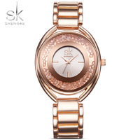 SK 2017 New Style Watch High Abrasion Proof Scratch Resistant Using Crystal Glass White Diamond Comfortable