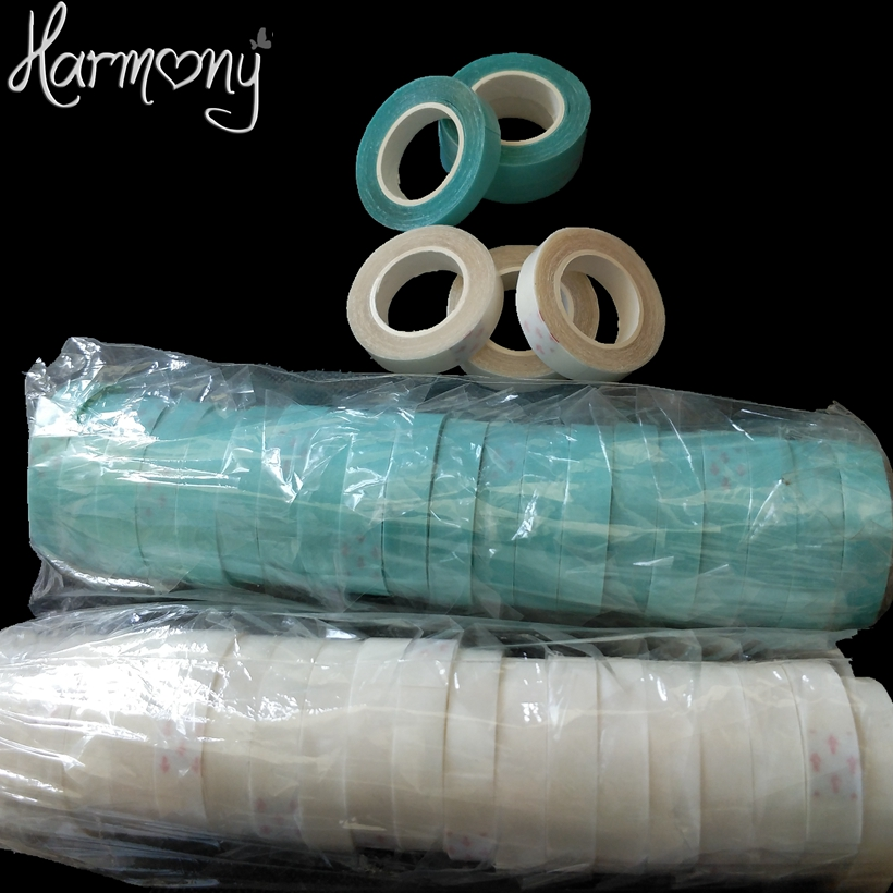 20 Rolls синий белого цвета 1 см x 3 двор волос клейкая лента для волос ленты, накладки, парики/двусторонний скотч ...