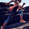 Высокое Качество Профессиональных Спортивных Леггинсы Женщины Тренировки Одежда 2016 Новый Радуга Градиент Печати Влагу Фитнес Брюки Legins
