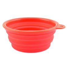 KSOL New Style Dog Pet Travel Plastic Collapsible Food Water Bowls Red