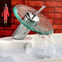 Стекло водопад бассейна кран. Ванной смеситель на бортике бассейна раковина смеситель однорычажный смеситель с регулировкой холодной и горячей воды