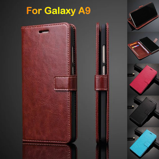 pretty nice bcf19 9b679 US $4.59 8% OFF|Leather Phone Cases For Samsung A9 Pro A9100 Card Holder  Flip Cover Case For Samsung Galaxy A9 2016 Leather Wallet A9000 on ...