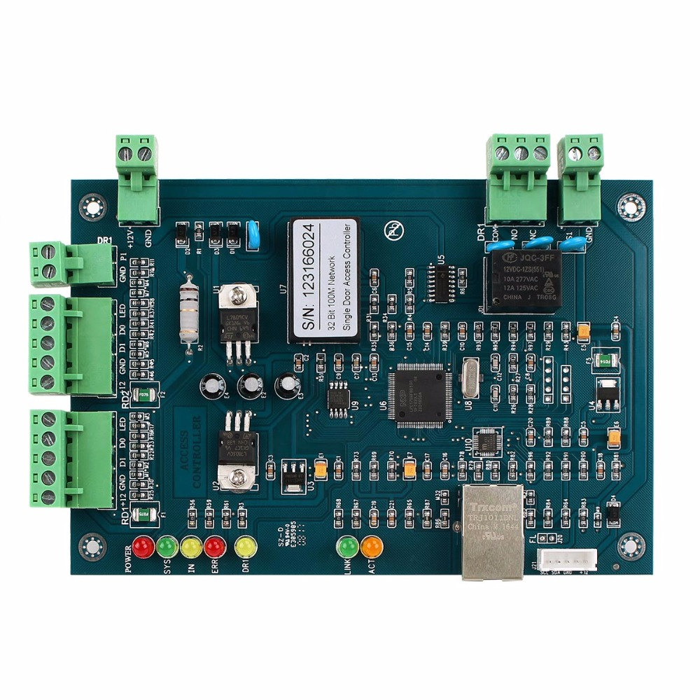 TIVDIO Wiegand TCP/IP Network Entry Access Control Board Panel Controller For 1 Door Generic For Home Security F1755L four door network access control panel board with software communication protocol tcp ip board wiegand reader for 4 door use