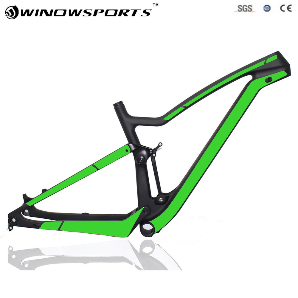 2018 New Suspension Bikes 29er XC Bike Full Carbon Mountain Bike Frame Cross Country 15.5/17.5/19/21