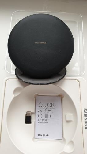 Оригинальный samsung S8 быстро Беспроводной Зарядное устройство Qi умная быстродействующая Зарядка для iPhone X XR XS 8/Galaxy S9 S10 Plus Note 9/huawei Коврики 20pro