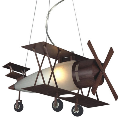 New aircraft Lighting Bi Plane Down Lighting font b Pendant b font Lamp for Kid Children