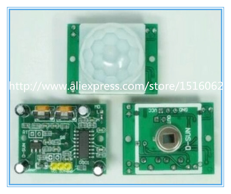 10PCS/LOT SR501 HC-SR501 Adjust IR Pyroelectric Infrared PIR module Motion Sensor Detector Module for arduino