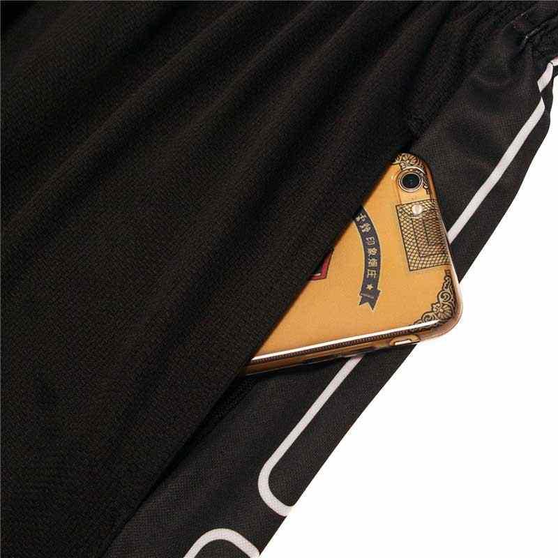 Для мужчин Фитнес Pro спортивные Gymming быстросохнущие тренировки компрессионные капри Обрезанные бордшорты для бодибилдинга бега тонкий Yogaing 167