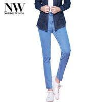 NordicWinds Skinny Jeans Woman Femme Big Size Stretch Pencil Thick Jeans Women S Denim Trousers Jean