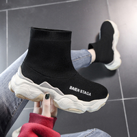 Sock Sneakers Chunky Female 2019 New Autumn Women Casual Shoes Ladies Black Platform Fashion Sneaker Vulcanized Woman Shoes