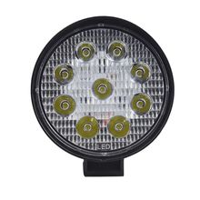 4 Inch Round 27W LED Work Light Offroad Car Truck Tractor Boat Trailer Flood Driving