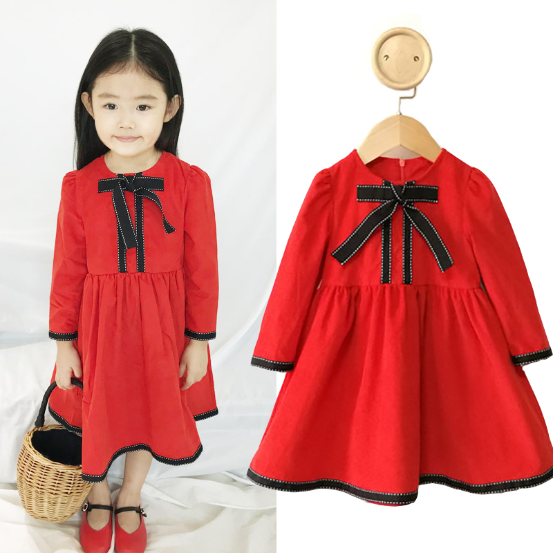 Autumn Winter Baby Girls Dress Long Sleeve Corduroy Vintage Dresses For Girls Princess Dress Evening Wedding Party Clothes corduroy overall dress